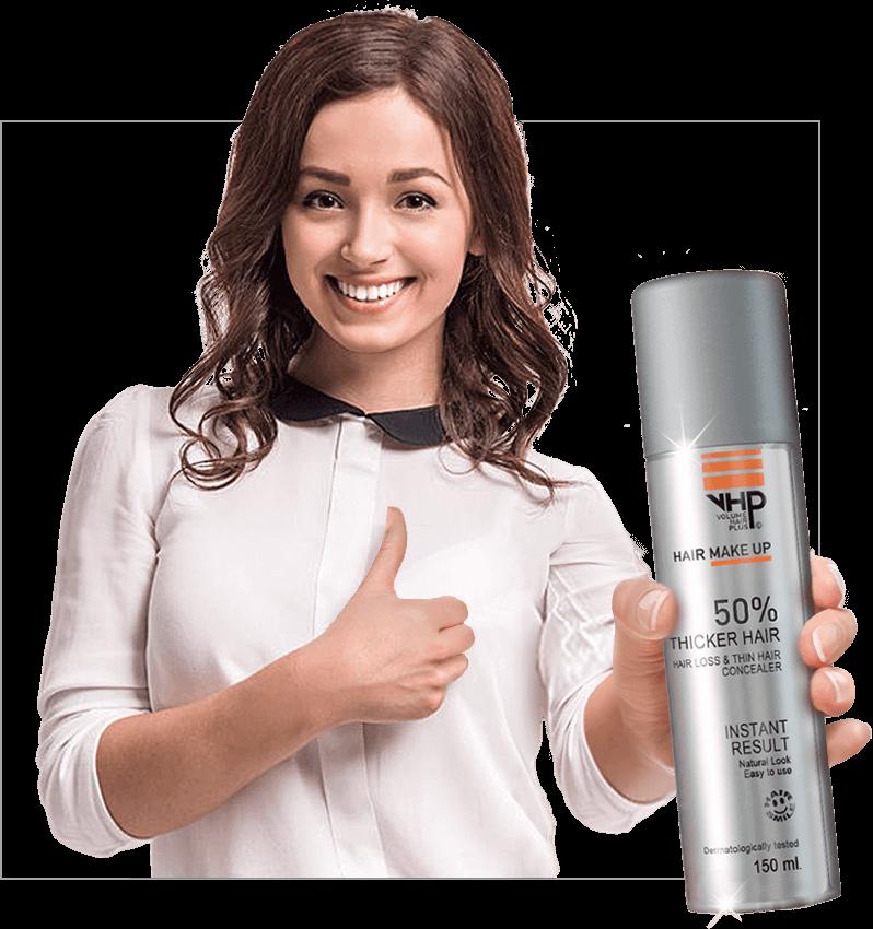 VHP Hair MakeUp is de meest bekende en meest effectieve haarverdikker in Nederland. De haarverdikkende spray is onderdeel van de serie VHP Haarproducten die gezamenlijk de ultieme haarverzorging bieden voor haarproblemen als dun haar en haaruitval. Ook verkrijgbaar bij Kruidvat